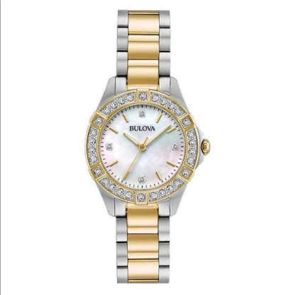 Bulova Accessories Ladies Diamond Mother Of Pearl Watch Poshmark